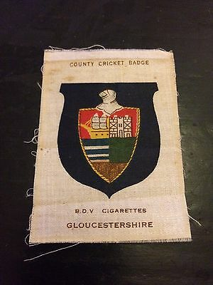 Silk County Cricket Badge Gloucestershire