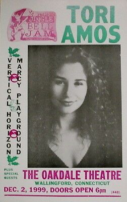 "Tori Amos Concert Poster - 1999 w/ Vertical Horizon & Marcy Playground 14""x22"""