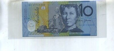 Australia 2007 $10 Currency Note Cu 9990E