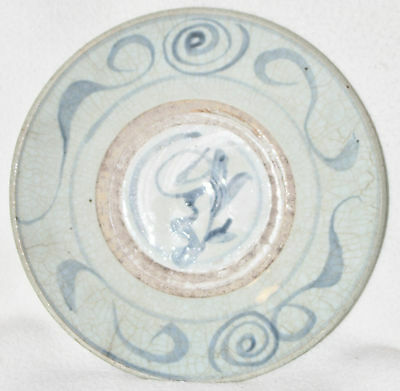 Chinese Late 18th Century Large Blue on White Decorated Porcelain Bowl
