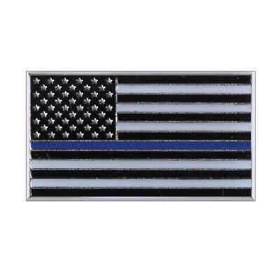 "Rothco Thin Blue Line Flag Pin, Police, Law Enforcement Support, 3/4"" x 7/16"""
