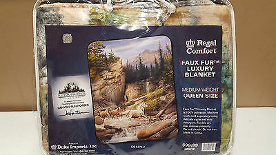 "Hautman Brothers Horses Canyon Run  Queen Size Blanket 79"" x 96"""