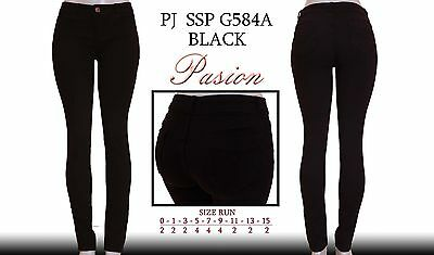 New  passion jeans stretch push up black pockets skinny jeans-0-15