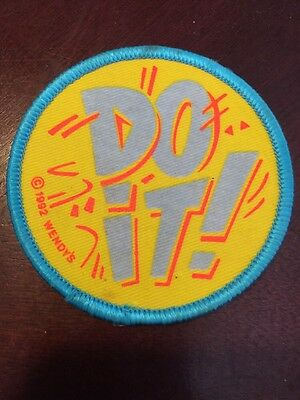 """Rare Wendy's 1992 """"DO IT"""" Patch New Fast Food Restaurant Wendy's"""