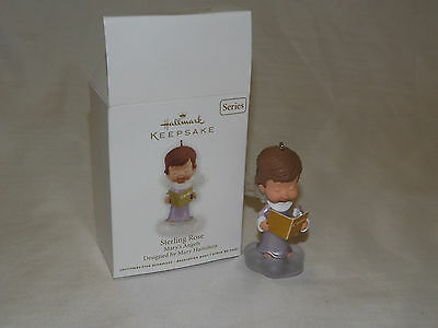 2012 Hallmark Ornament Mary's Angels Sterling Rose 25th in Series