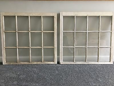 2 Vintage 12 Pane Windows