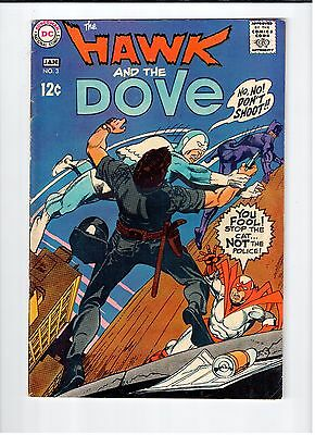 DC HAWK AND DOVE #3 Kane cover and art 1969 Vintage Comic