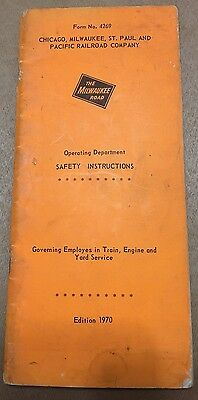 1970 Milwaukee Road Railroad Engine Operating Department Safety Instructions