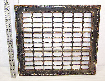 "Vintage 16"" x 15"" metal Industrial Cold Air Return Heat Vent Register GRATE"