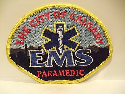 fire ems ambulance patch  CITY OF CALGARY EMS PARAMEDIC  SERVICE ALBERTA CANADA
