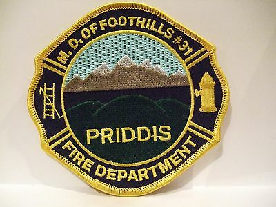 fire ems ambulance patch  PRIDDIS STN  M.D. FOOTHILLS FIRE DEPT  ALBERTA CANADA