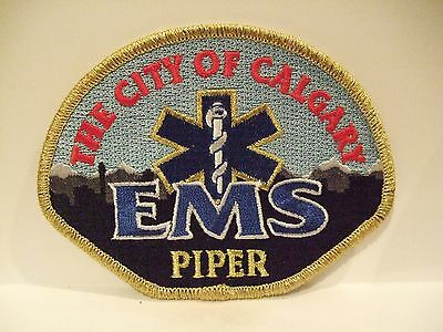 fire ems ambulance patch  CITY OF CALGARY EMS PIPER  ALBERTA CANADA