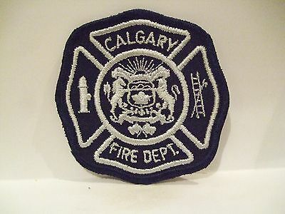 fire ems ambulance patch  CALGARY FIRE DEPT  ALBERTA CANADA   BLUE & SILVER