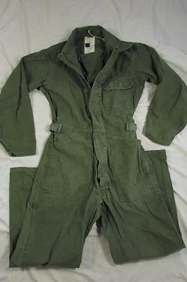 Vtg 90s 1992 US Army Cotton Sateen Type 1 Coveralls Mechanic Military Sz Small