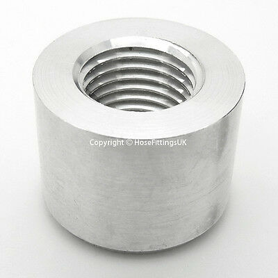 3/8 NPT ALUMINIUM WELD ON BUNG FEMALE BOSS Adapter Fuel Oil Breather Catch Tank
