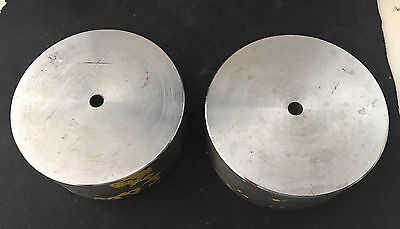 1 pair of Stainless Steel round blocks OD 70.5mm Height 29mm