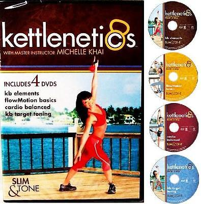 KETTLE Bell K-BELL Kettlenetics 4 DVD WORKOUTS + FREE Health & FITNESS Bonuses
