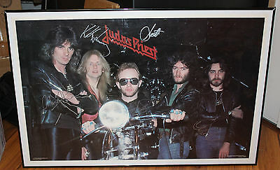Judas Priest - Full Band Signed 1979 Poster