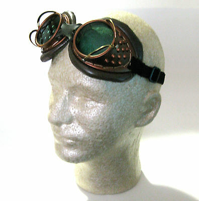 Machinist Goggles Brass Steampunk Glasses Adult Halloween Costume Accessory