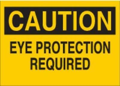 G6177534 Safety Sign Label, 3-1/2 In. H, 5 In. W 2PK