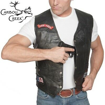 Caribou Creek Leather Concealment Vest - Men's Large
