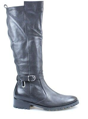 Tesori NEW Black Shoes Size 8M Round Toe Mid-Calf Leather Boots $99 - #820 DEAL