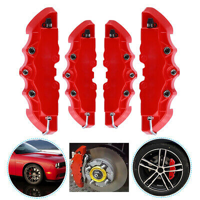 4pcs Universal Car Disc Brake Caliper Covers for Front & Rear Kits RED
