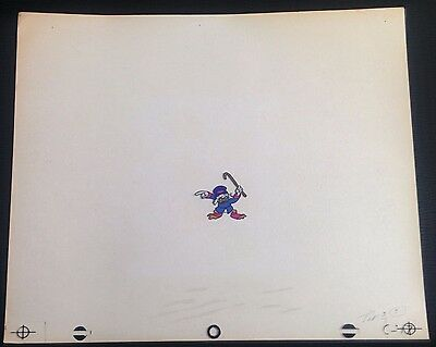 DuckTales Animation Production Hand Painted SCROOGE MCDUCK Cel Walt Disney #02