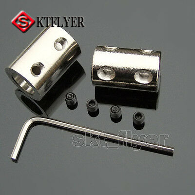 4/5/6/8/10mm Steel Rigid Flexible Shaft Coupling Coupler Motor Connector Toy DIY