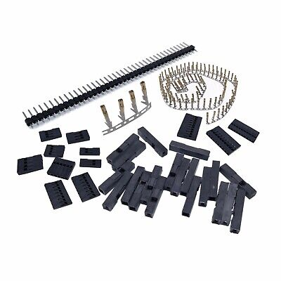 350 pcs 40 Pin 2.54mm Pitch Dupont Male Female Housing Connector Row Header Kit