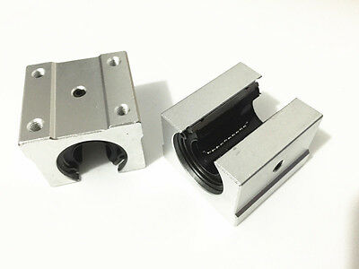 US Stock 4pc SBR12UU 12mm Aluminum Open Linear Router Motion Bearing Shaft Block
