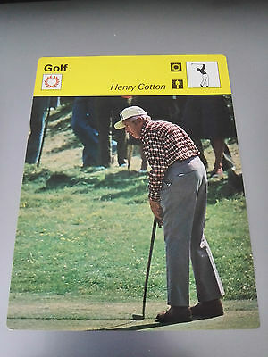 GOLF - Henry COTTON The OPEN / RYDER CUP - Sportscaster Photo Fact Card