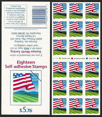 2919a ATM Flag Over Field Unfolded Pand PO Fresh Mint NH
