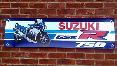 Br65 Suzuki Gsxr750F 1985 Slab Side Banner Workshop Sign