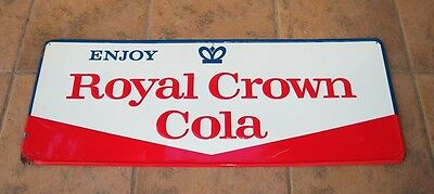 "ROYAL CROWN COLA RC VINTAGE TIN SIGN MADE IN USA APPROX 12 x 31"" ** NICE **"