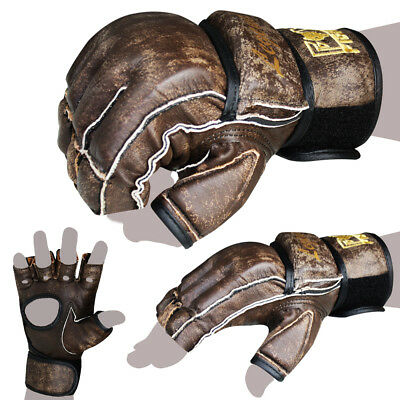 FOX-FIGHT Legend MMA Freefight Handschuhe Gloves echtes Leder Boxhandschuhe BJJ