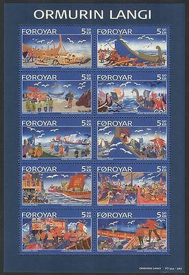 Faroes 2006 Ballads/Literature/Boats/Soldiers/Battles/Stories 10v m/s (n34318)