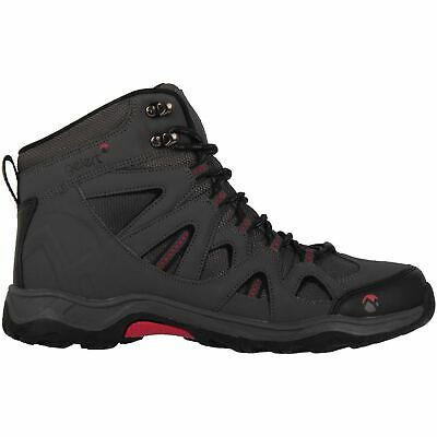 Gelert Mens Ottawa Mid Walking Boots Lace Up Padded Ankle Collar Outdoor Shoes