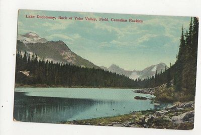 Lake Duchesnay Back Of Yoho Valley Field Canada Vintage Postcard  212a