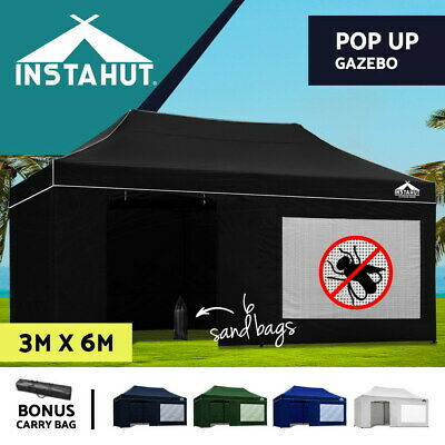 Instahut 3x6m Outdoor Pop Up Gazebo Folding Marquee Tent Canopy Party Camping