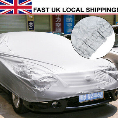 Waterproof Full Car Cover Sun UV Resistant Protection Large Size XXL Silver Grey