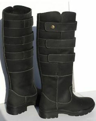 Rhinegold Elite Colorado Country  Boots - Black Size 3