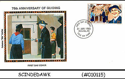 ISLE OF MAN - 1985 75th ANNIVERSARY OF GUIDING / GIRLS GUIDE - FDC 2nos