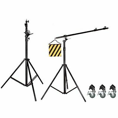 BA06 Heavy Duty 2-in-1 500CM Rotatable Studio Boom Stand Light Stand 7KG Load