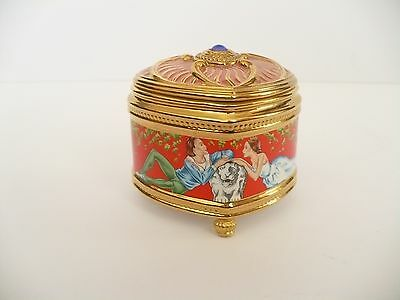 House Of Faberge Raymanda Imperial Music Box With Leaflet By Franklin Mint