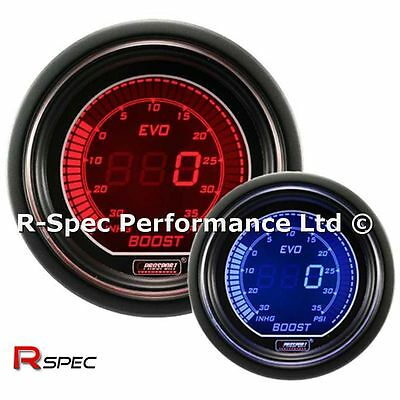 GENUINE Prosport 52mm Evo Blue / Red Display LCD Digital Turbo Boost Gauge - PSI
