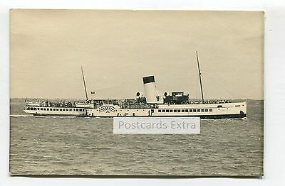 """Paddle steamer """"Emperor of India"""" at sea - old postcard-sized photo"""