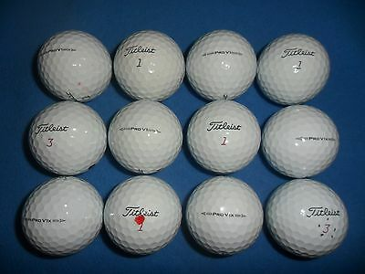 12 x TITLEIST PRO V1 AND PRO V1x GOLF BALLS WITH JUST PEN/ID MARKS ON THEM-EXCEL