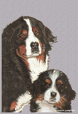 Garden Indoor/Outdoor Pipsqueak Flag - Bernese Mountain Dog Pair 495591