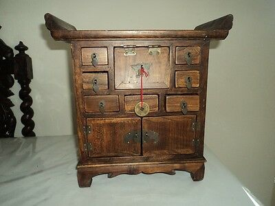 Chinese altar style cabinet for jewellery etc.